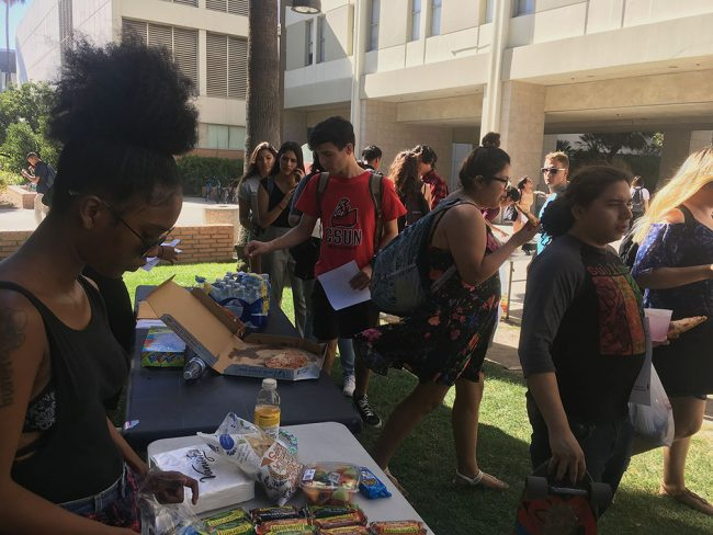 Students boycott Executive Order 1100 by not purchasing anything on campus