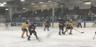 csun Hockey team in action on hockey rink