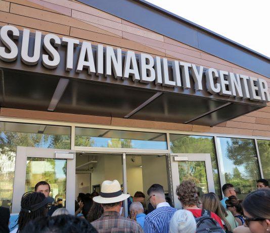 sustainability center building entrance