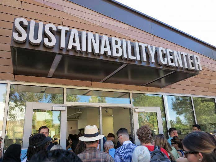 sustainability center building entrance
