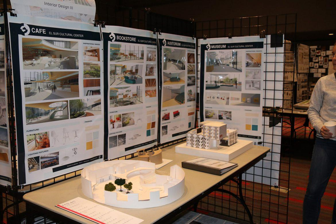 Interior+designs+of+cultural+centers+by+students+on+display+in+the+Northridge+Center.+Photo+credit%3A+Kelcey+Henderson