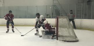 CSUN hockey team in action