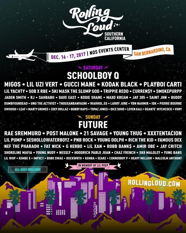 Rolling Loud concert flyer