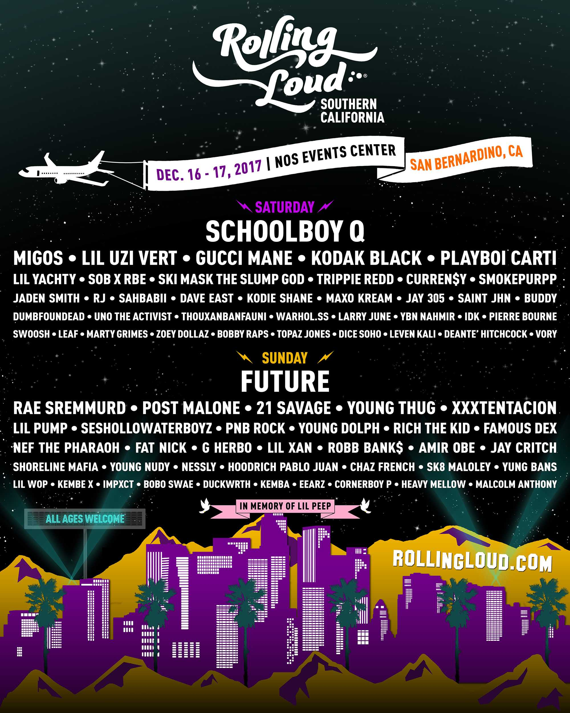 The independent festival will feature both big and underground Hip-Hop artists in their first SoCal edition of the festival. Photo Credit: Courtesy of Rolling Loud.