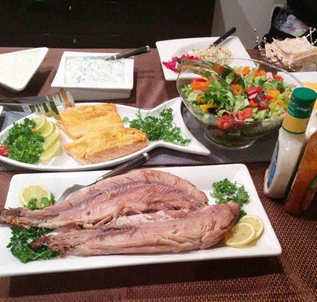 A table set with dishes, such as zook, that are eaten during Armenian Christmas dinner . Photo credit: Karin Abcarians