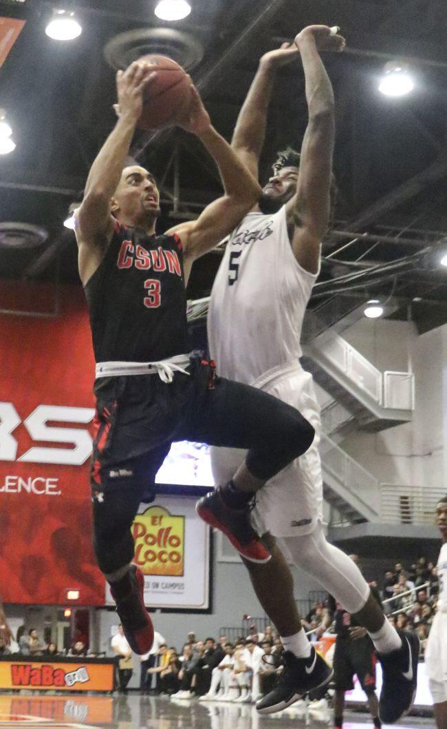 CSUN player takes a shot