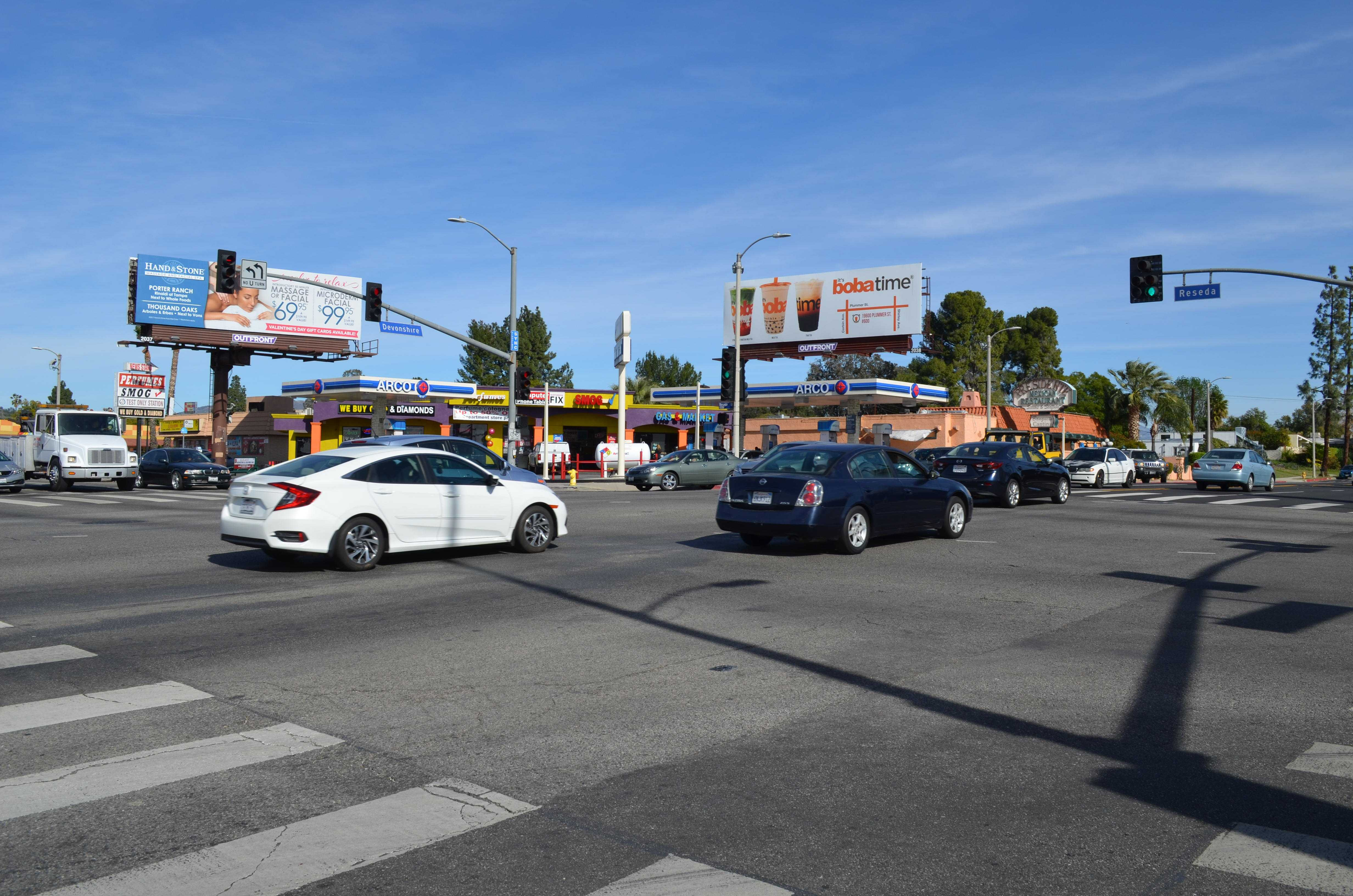 busy street intersection