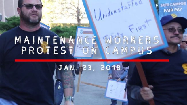 screenshot of the Maintenance Workers Protest video from YouTube