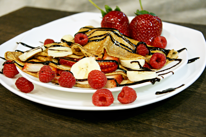 strawberry and banana crepe