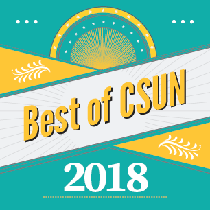 best of csun 2018 blue and yellow poster