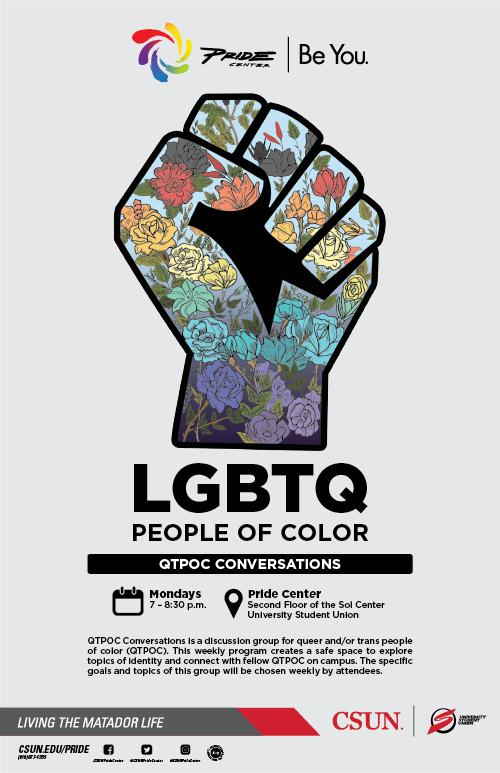 LGBTQ people of color informational flyer