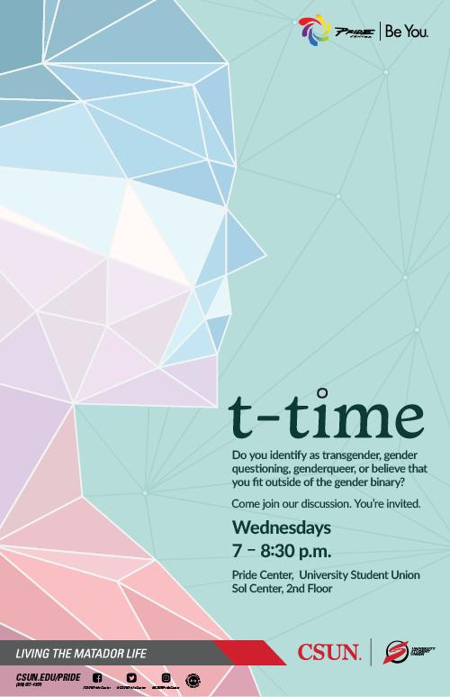 Flyer for T-Time meeting