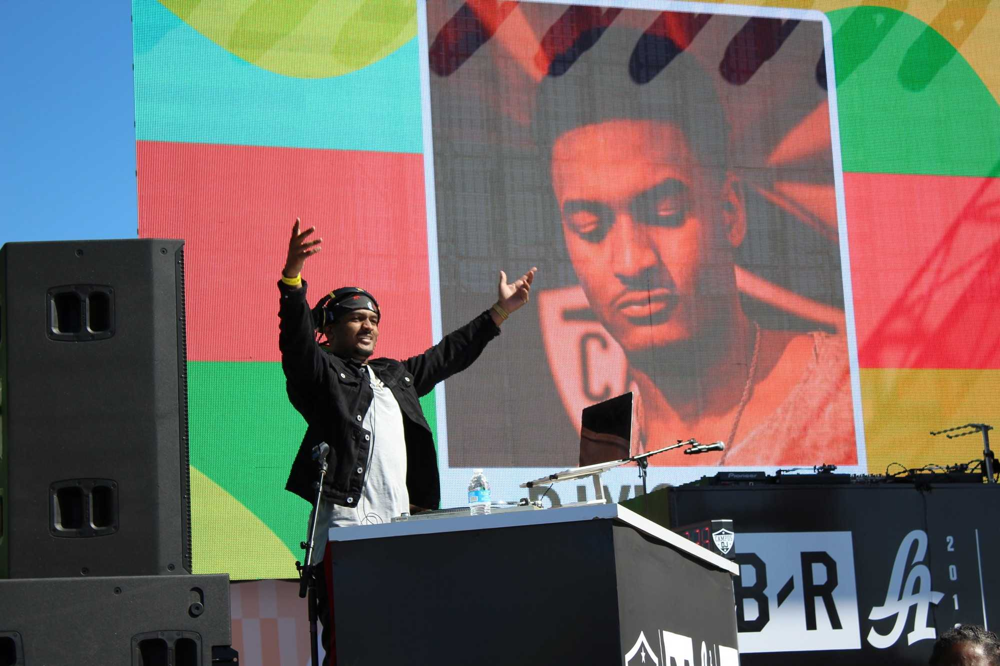 DJ Vicious during his first set on the JBL stage. Photo credit: Lauren Turner Dunn