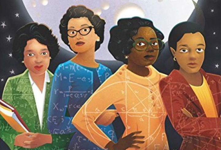 four+African+american+woman+drawn+with+various+mathematical+equations+in+their+clothes.