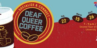 Deaf queer coffee informational flyer