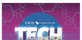 Tech Fest flyer at career center