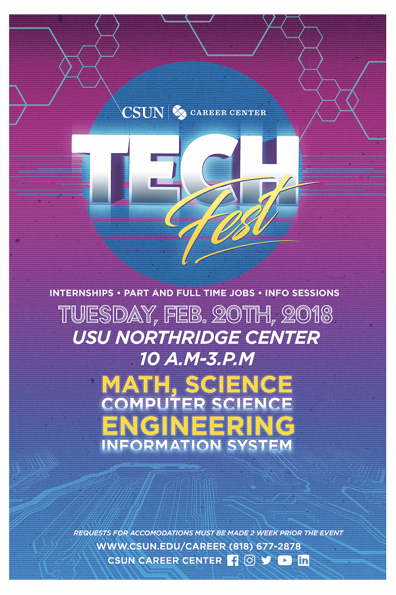 Tech Fest flyer at career center