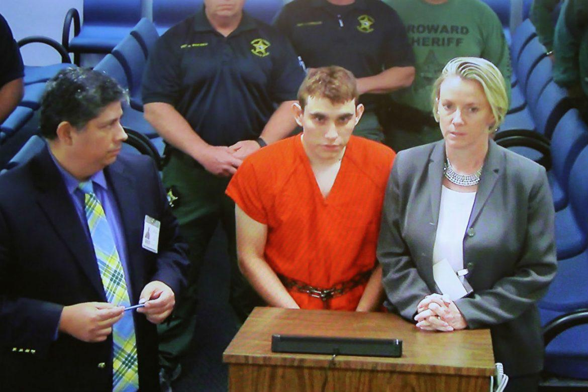 Nikolas+Cruz+makes+a+video+appearance+in+court+on+February+15%2C+2018.+Cruz+is+facing+17+charges+of+premeditated+murder+in+the+mass+shooting+at+Marjory+Stoneman+Douglas+High+School+in+Parkland%2C+Fla.+%28Susan+Stocker%2FSun+Sentinel%2FTNS%29
