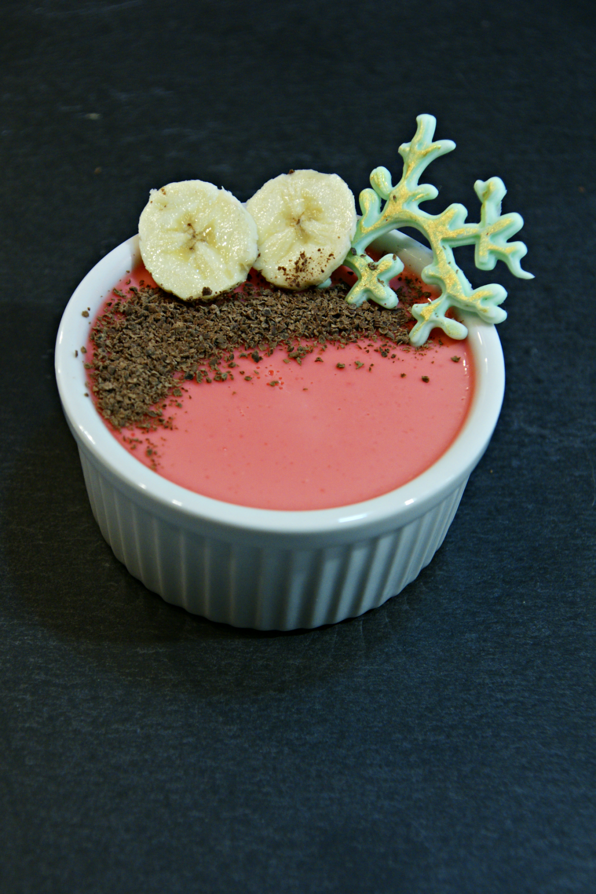 Strawberry flavored Pannacotta