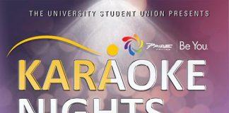 promotional flyer for karaoke nights