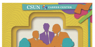 promotional flyer for the Career and Internship fair