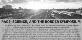 flyer titled Race, Science, and the Border Symposium