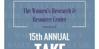 poster for an event being held by the Womans Research and Resource center