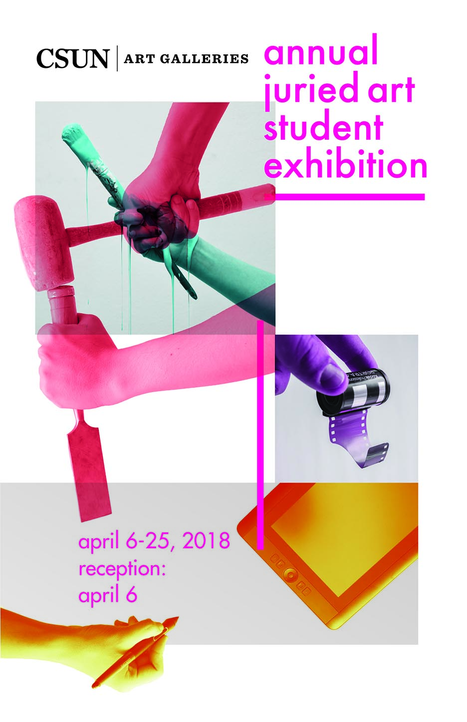 colorful poster for the Annual Juried art student exhibition
