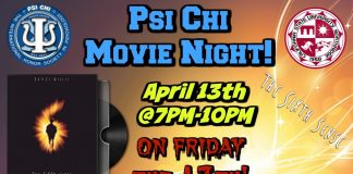 colorful flyer for a movie night