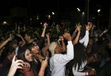students happily celebrating on dance floor