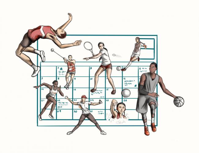 sports event calendar logo