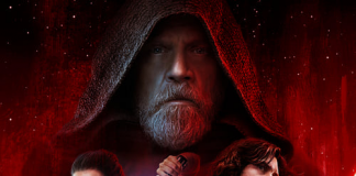 red and white star wars movie poster