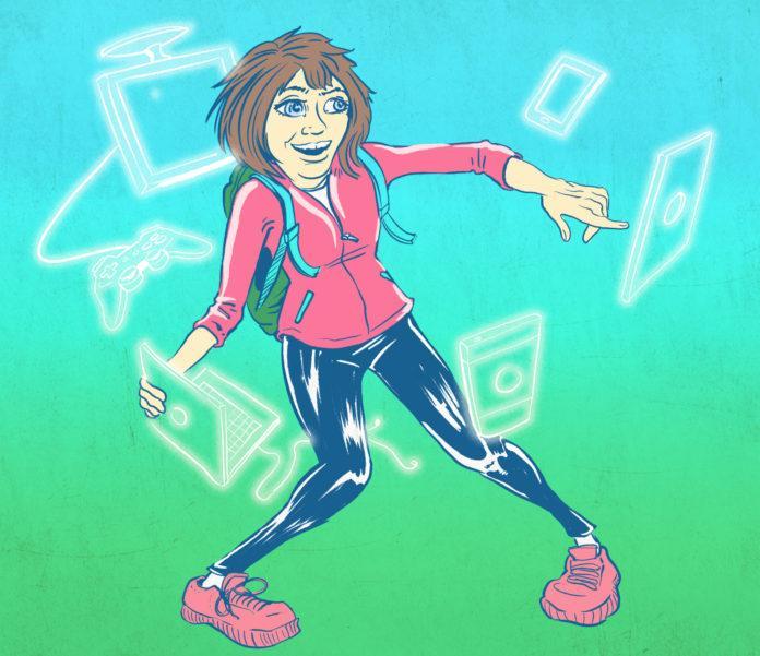 drawing of girl dancing