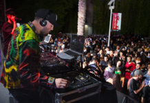 DJ playing music to crowd