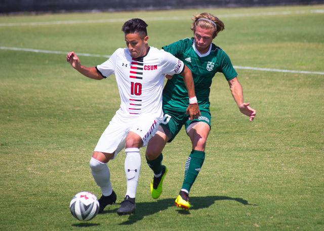 Men's soccer wins third in a row behind Trejo's hat trick
