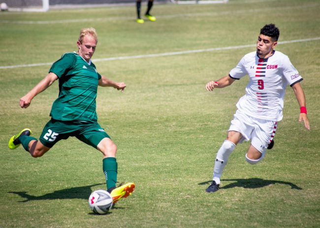 Rodriguez shines in men's soccer's split weekend