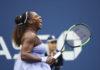 Tennis player in purple dress