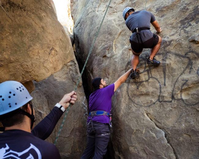 Outdoor Adventures goes rock climbing