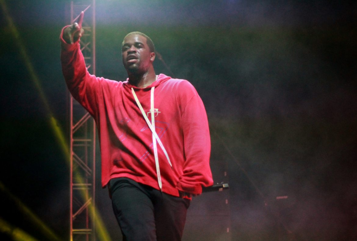 A$AP Ferg while performing during Big Show 18 on the Oviatt Lawn on Saturday, Oct. 6. Photo credit: Clare Calzada