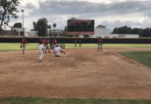 csun baseball team on field