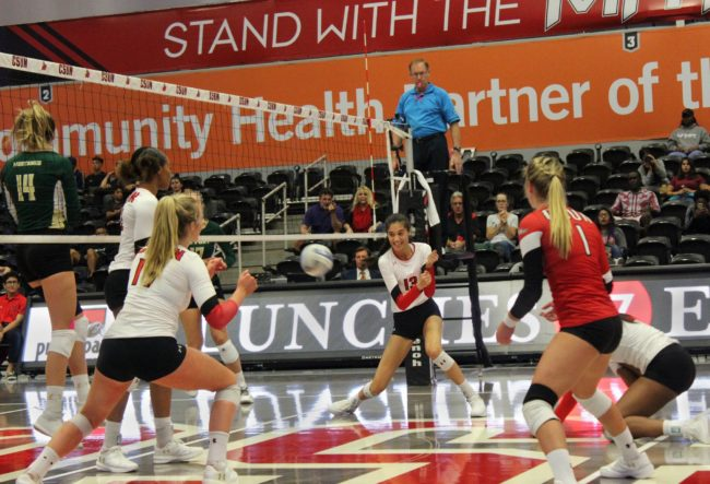 Women's volleyball drops a pair; losing streak hits four