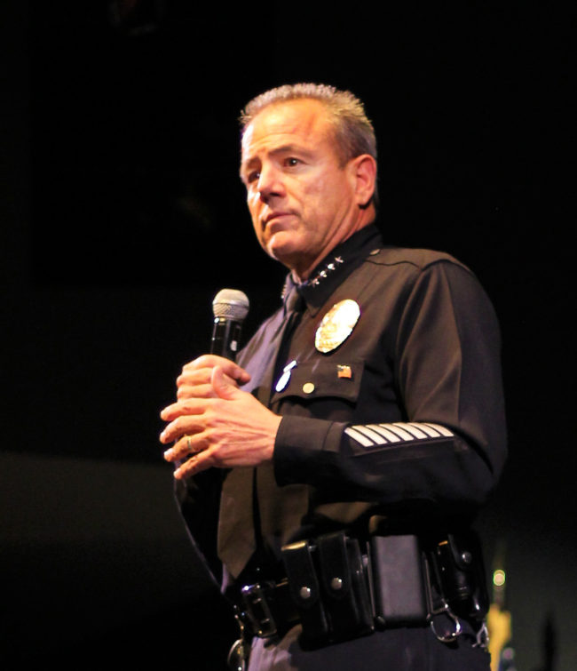 LAPD Chief addresses issues in college setting