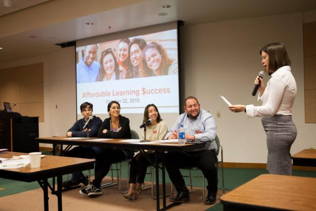 Student leadership speaks in panel on university improvements