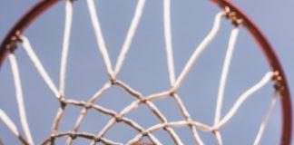 basketball in basketball hoop