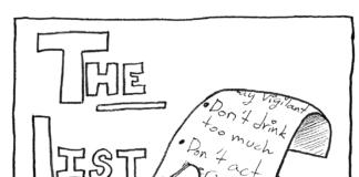 cartoon drawing of a list