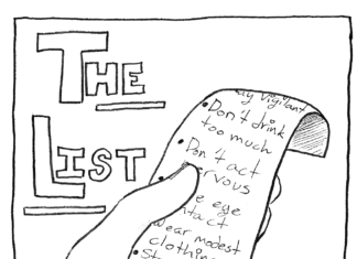 cartoon drawing of a list
