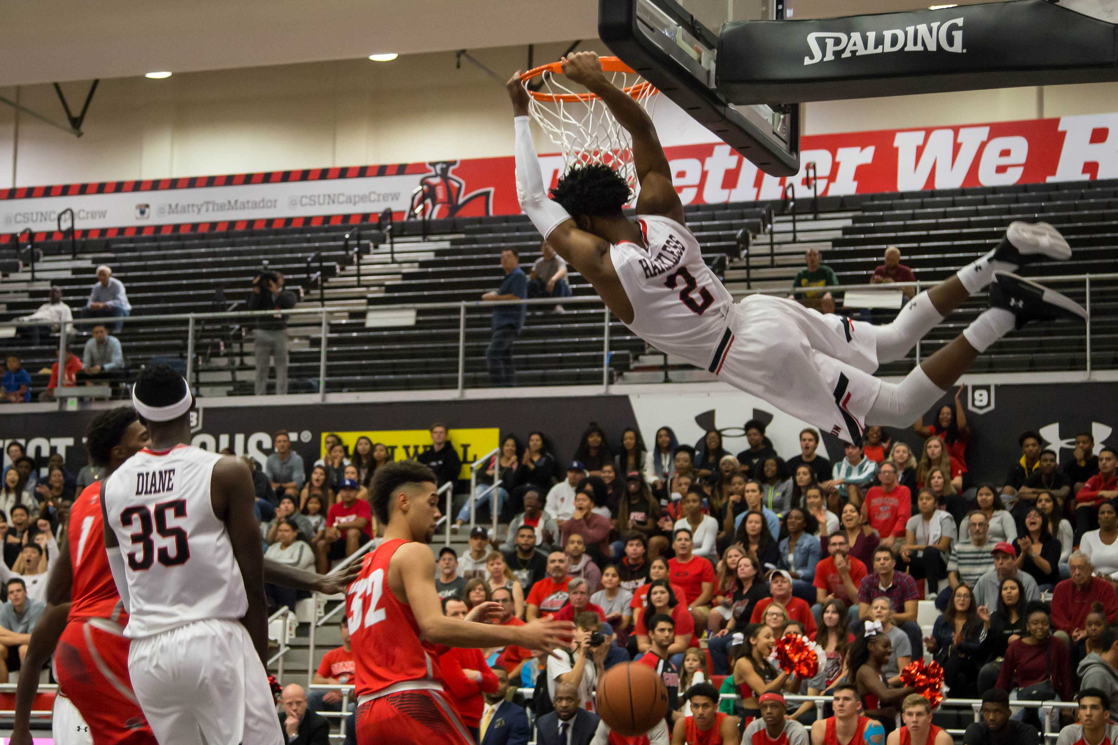 csun athlete dunking