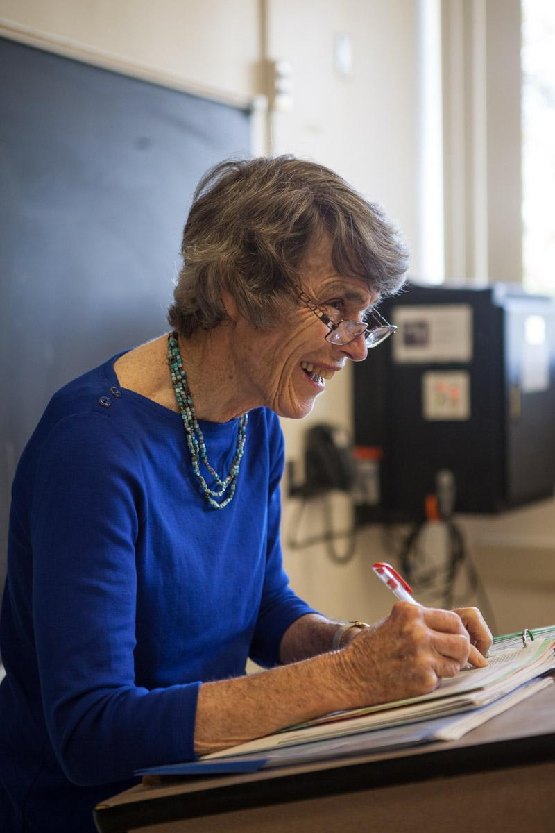 Professor Jane Bayes is a Political Science professor at California State Northridge and has been since 1968. Photo Credit: Hanna Von Matern