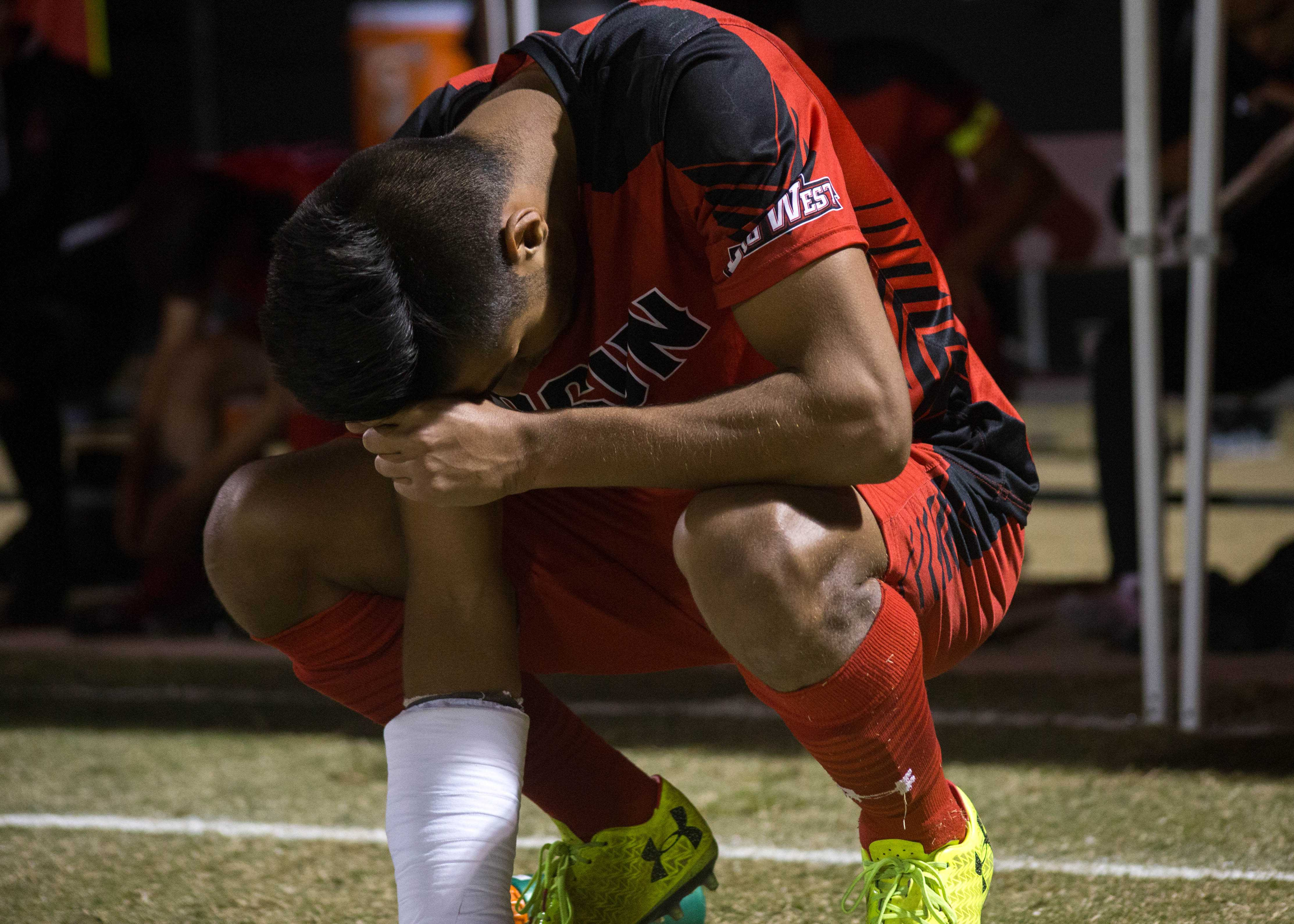 csun soccer player sad