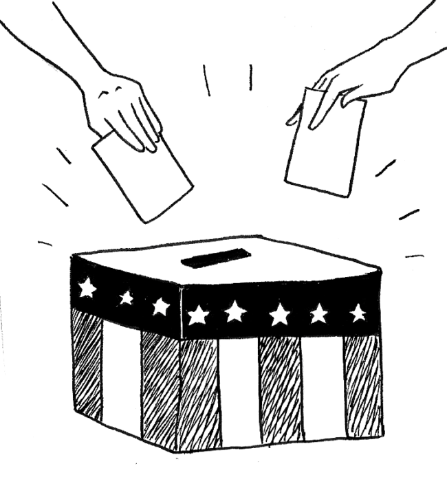 vote ballot cartoon